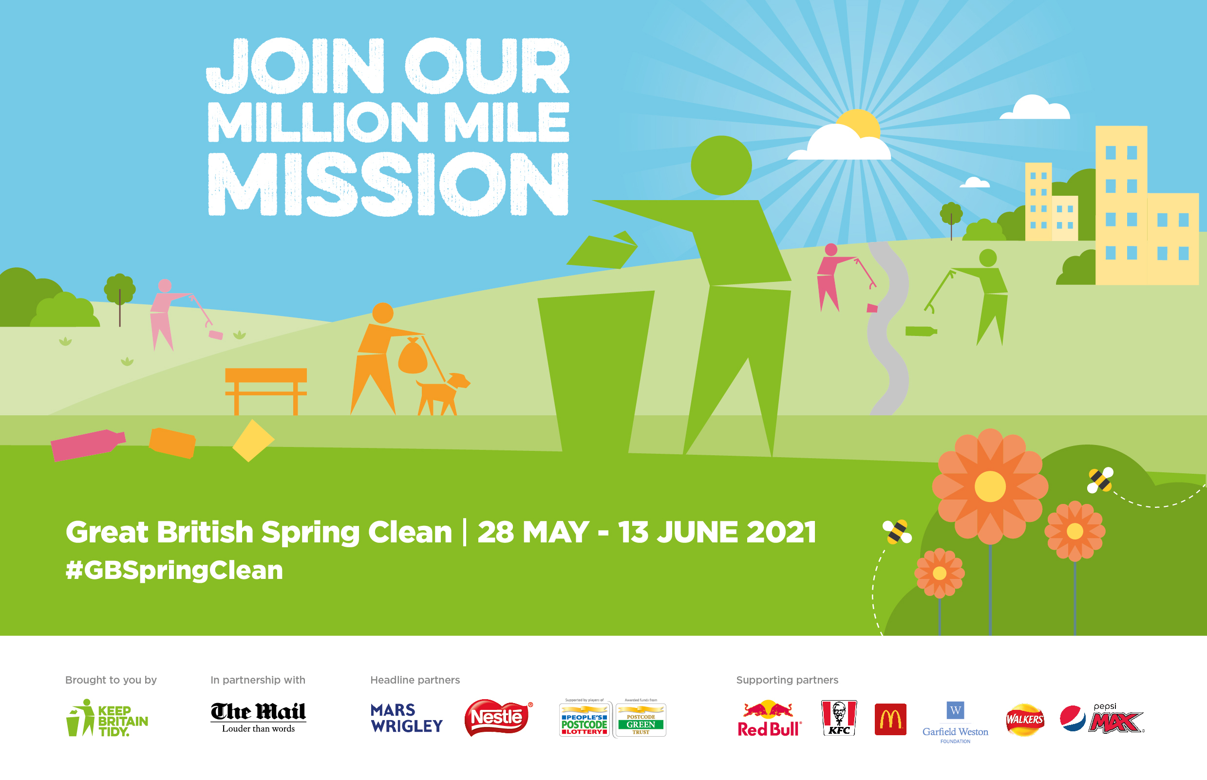 Great British Spring Clean – 28 May to 13 June 2021